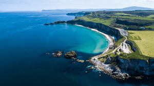 Northern Ireland Beach from the sky
