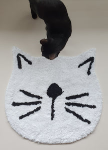 FLOOR MAT - Large Cat Head