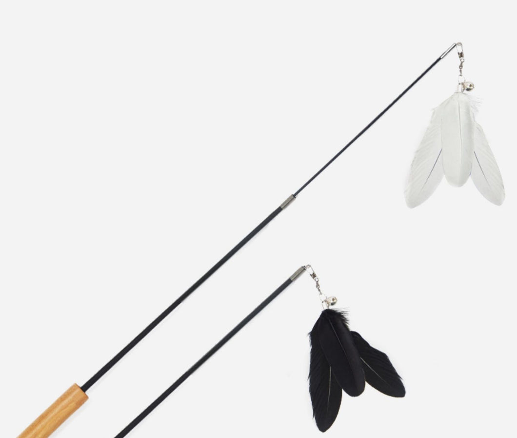 [Back in stock] Feather Toy Extendable Stick Toy