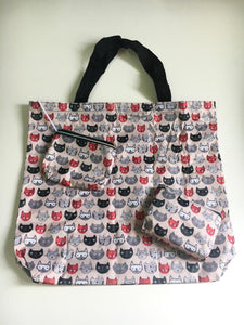 Peach Base Cat Head Foldable Bag Series