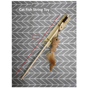 Cat Fish Toy Stick