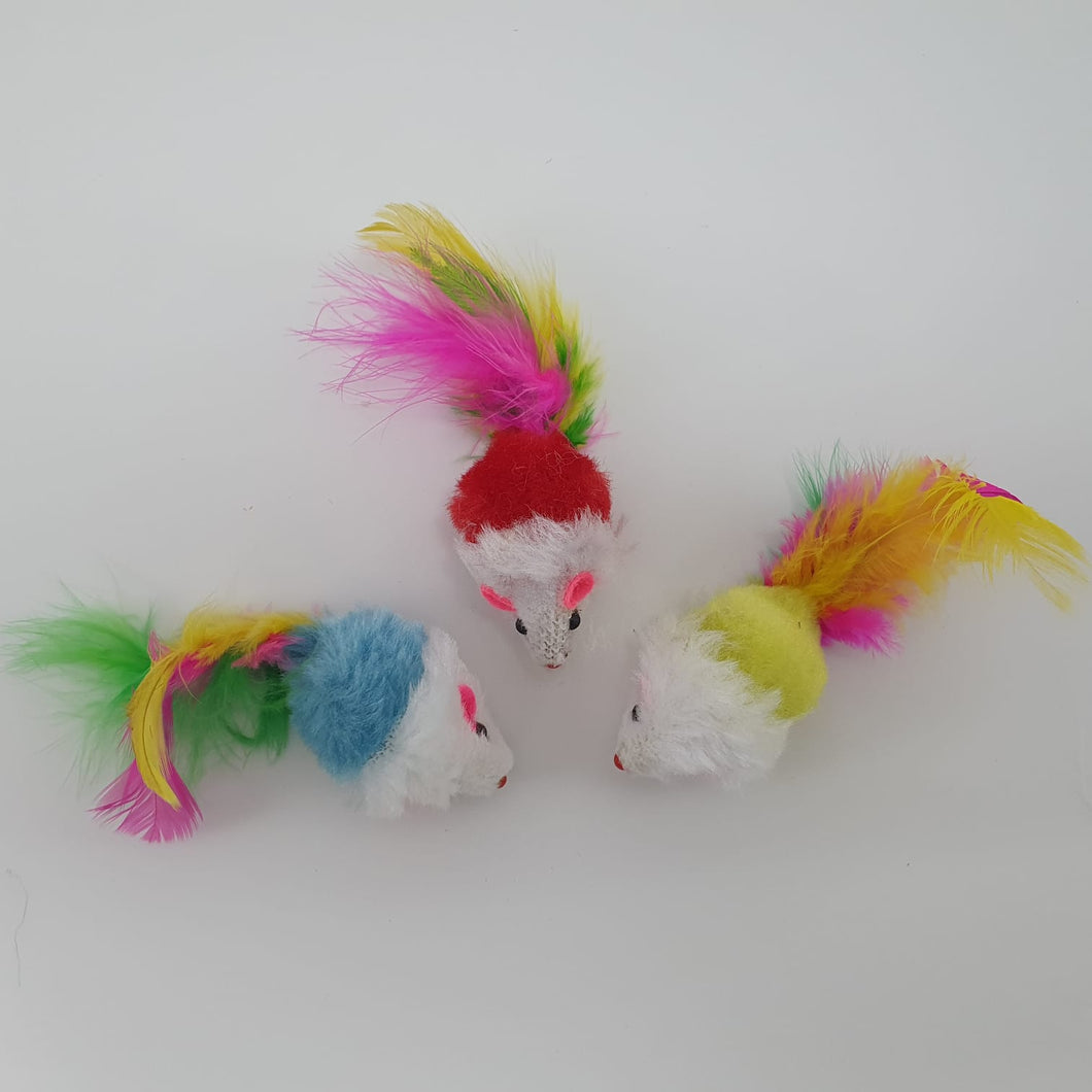 CAT TOY - Little Feathery Butt Mousies