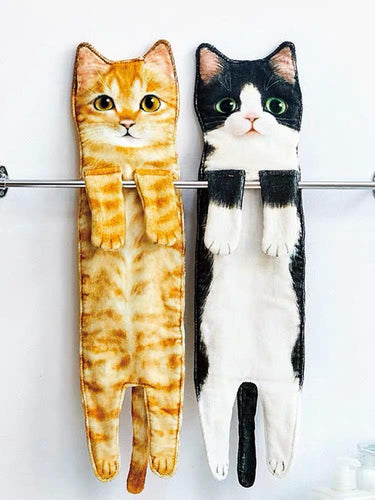 WASH TOWELS - Hanging Out with Cats Series