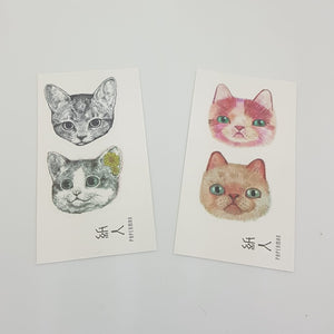 TEMP TATTS - Grey and Orange Cats
