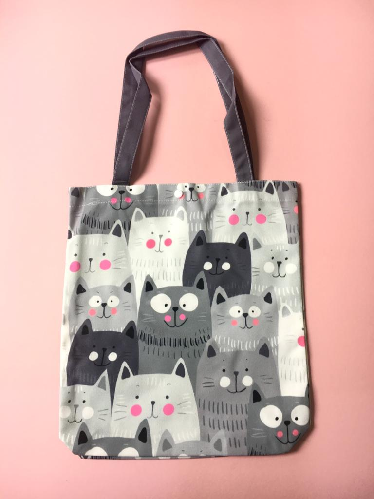 TOTE BAG - Many Grey Cats Design