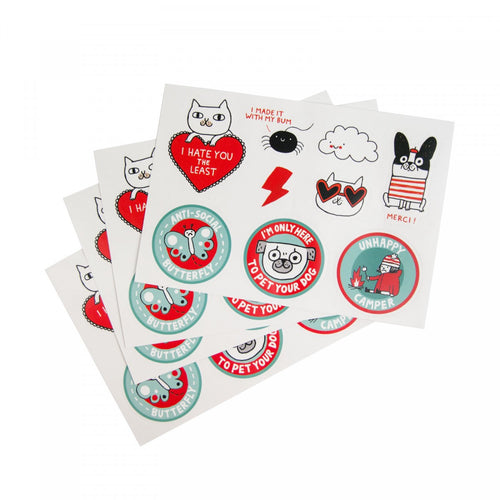 Illustrated Stickers - Gemma Correll Sticker Set - CatMamaShop