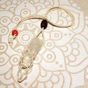 Macrame Crystal Holder Necklace