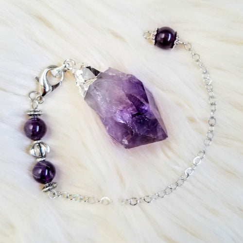 Amethyst Natural Point Pendulum