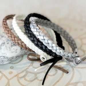 Aromatherapy Diffuser Braided Leather Bracelet PK2