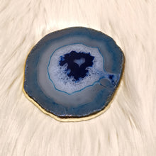 Agate Slice Coaster - Blue