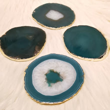 Agate Slice Coaster - Green