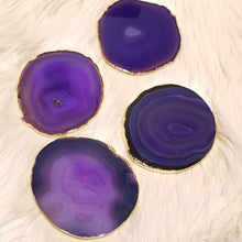 Agate Slice Coaster - Purple