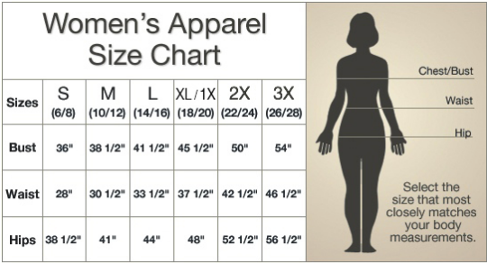 time to clothes sizing chart