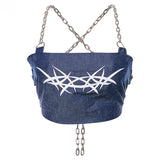 Chain Criss-Cross Crop Top