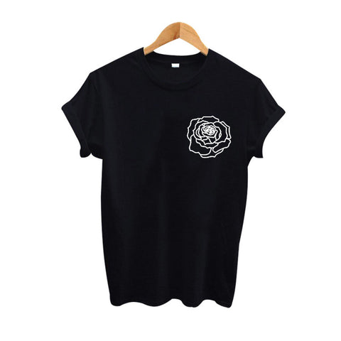 Rose Line Art Unisex T-shirt