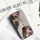 'Michelangelo Creation of Adam' Phone Case