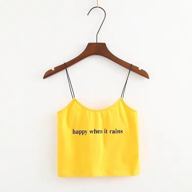 Happy When It Rains Crop Top