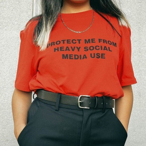 Protect Me From Heavy Social Media T Shirt