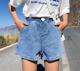 High Elastic Waist Wide Shorts