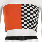 Checkerboard Crop Top