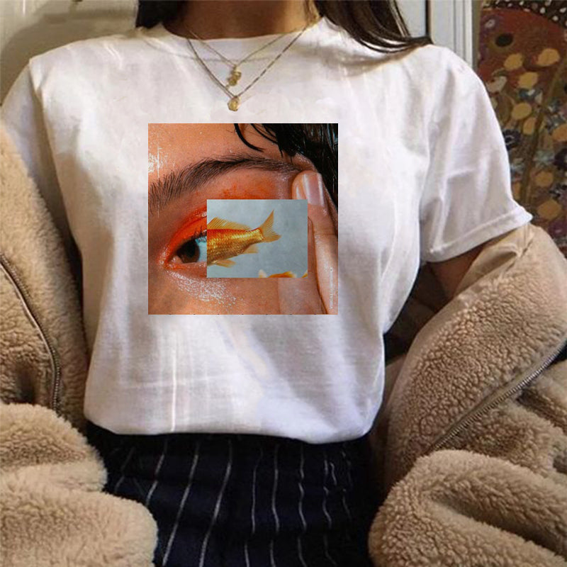 Eye Fish Collage T-shirt
