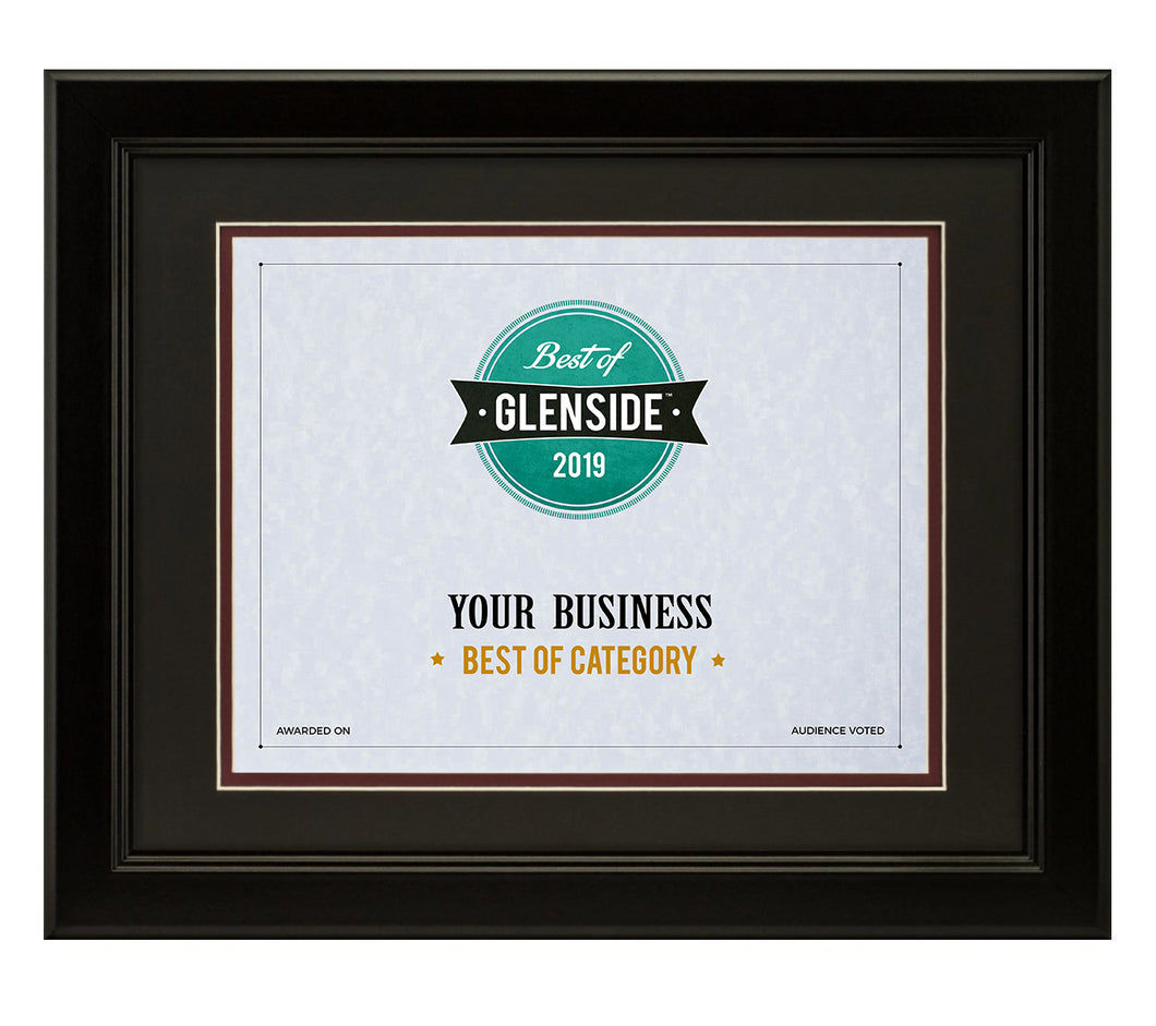 Best Of Glenside Framed Certificate
