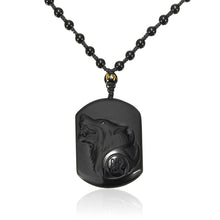 Collier Loup Obsidienne
