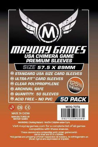 Mayday Games - USA Chimera Game Premium Sleeves - 57.5mm x 89mm (50)