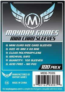 Mayday Games - Mini Card Sleeves - 45mm x 68mm (100)