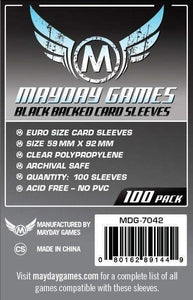 Mayday Games - Black Backed Card Sleeves - 59mm x 92mm (100)