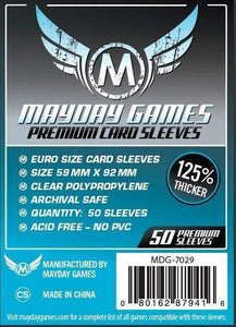 Mayday Games - Premium Card Sleeves - 59mm x 92mm (50)