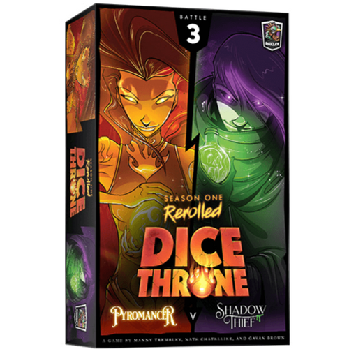 Dice Throne Season 1 ReRolled (3) - Pyromancer VS Shadow Thief