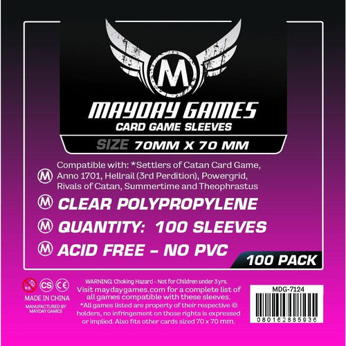 Mayday Games - Square Sleeves - 70mm x 70mm (100)