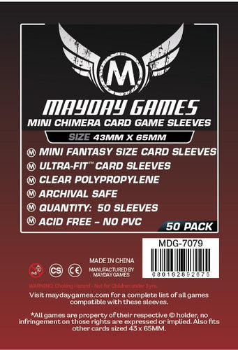 Mayday Games - Mini Chimera Game Premium Sleeves - 43mm x 65mm (50)