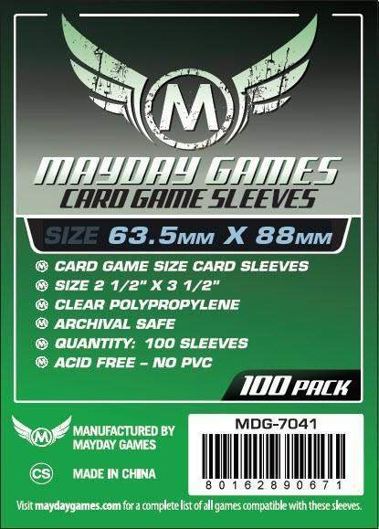 Mayday Games - Card Game Sleeves - 63.5mm x 88mm (100)