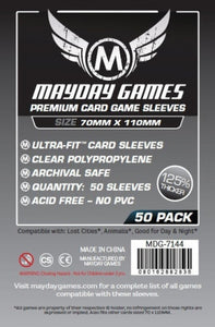 Mayday Games - Premium Card Game Sleeves - 70mm x 110mm (50)