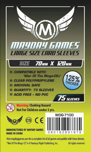 Mayday Games - Large Size Card Sleeves - 70mm x 120mm (75)