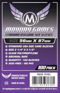 Mayday Games - Standard USA Game Size Sleeves - 56mm x 87mm (100)