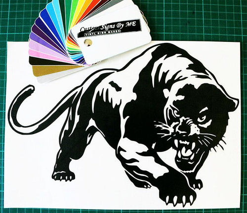 Angry Panther Car Sticker JDM Decal Window Bumper Tailgate - Worldwide Shipping
