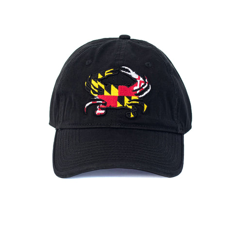 Maryland Flag Crab Black Hat - Front - HomeGamers