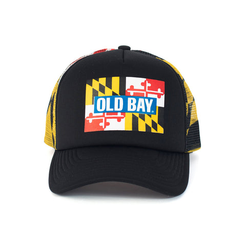 OLD BAY® Maryland Flag Trucker Hat - Front - HomeGamers