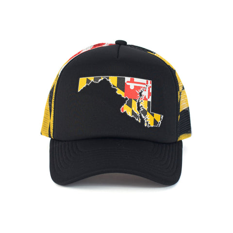Maryland State Trucker Hat - Front - HomeGamers