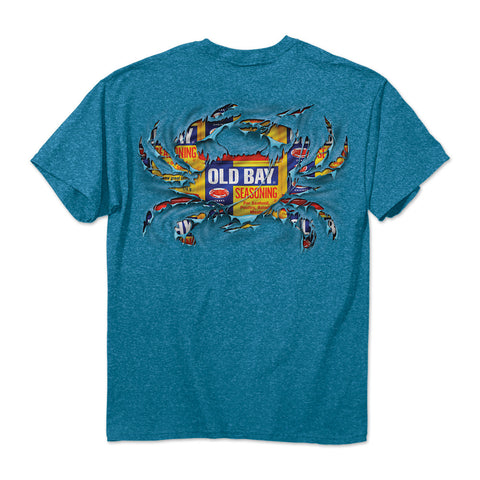 OLD BAY® Ripped Crab Sapphire T-Shirt - HomeGamers