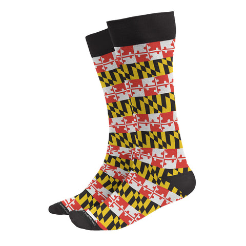 Maryland Flag Striped Dress Socks - HomeGamers