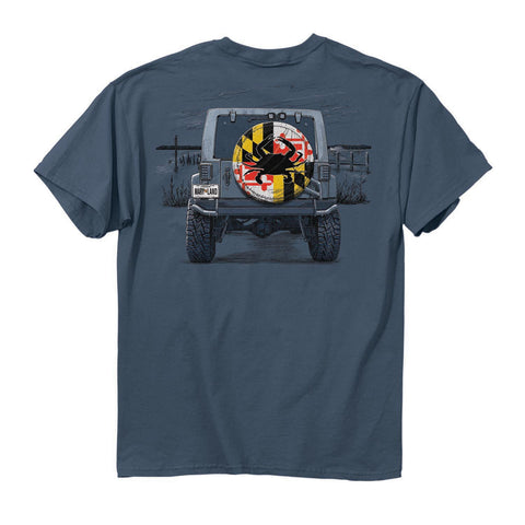 Maryland Flag Tire Cover T-Shirt - HomeGamers