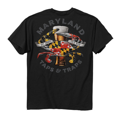 Maryland Crab Taps and Traps T-Shirt - HomeGamers