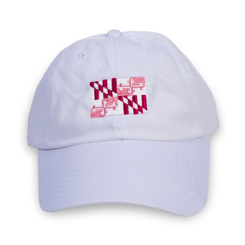Pink Flag White Hat Front - HomeGamers