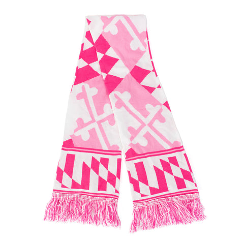 Maryland Flag - Pink Knit Scarf - HomeGamers