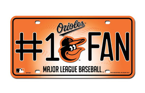Baltimore Orioles License Plate - HomeGamers