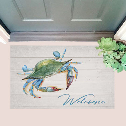 Maryland Blue Crab Welcome Door Mat